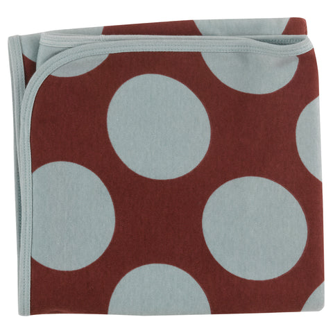 Pigeon Organics Blanket - Giant Spot Blue Surf/Spice