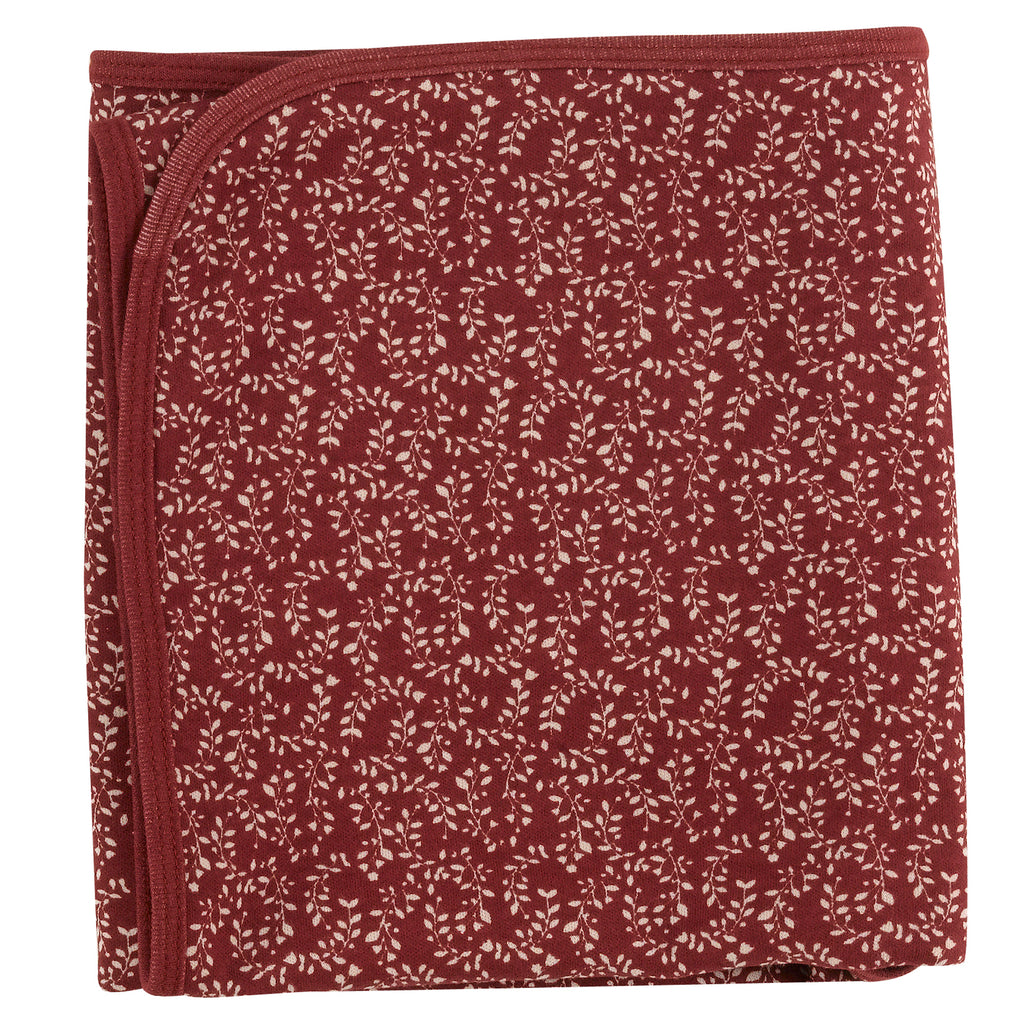 Pigeon Organics Blanket - Red Leaf