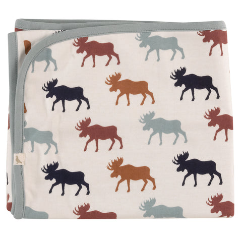 Pigeon Organics Blanket - Moose Head Multicolour