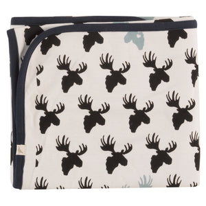 Pigeon Organics Blanket - Moose Head Black/White