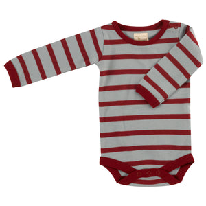 Pigeon Organics Breton Stripe Body - Blue Surf/Red