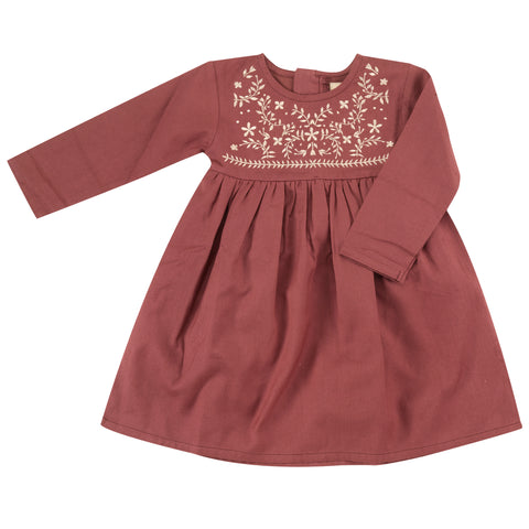Pigeon Organics Embroidered Dress - Spice