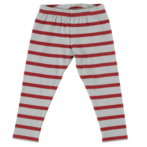 Pigeon Organics Stripe Leggings - Blue Surf/Red