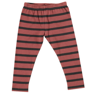 Pigeon Organics Stripe Leggings - Spice/Black