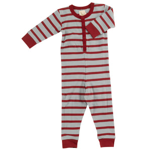 Pigeon Organics Onesie  - Blue Surf/Red