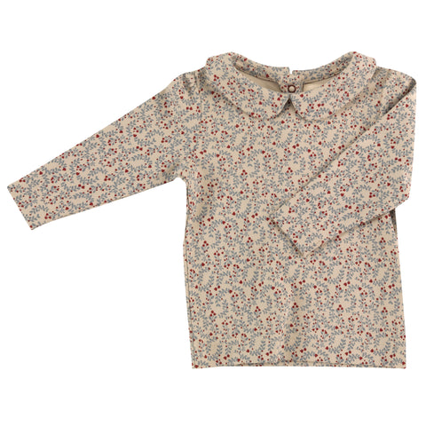 Pigeon Organics Peter Pan Collar Blouse - Pumice Leaf