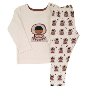 Pigeon Organics Pyjamas in a Bag - Spice Inuit