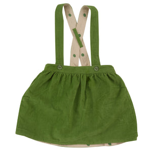 Pigeon Organics Skirt with Braces - Green (reversible)