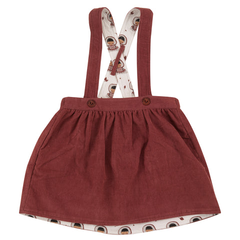 Pigeon Organics Skirt with Braces - Spice (reversible)