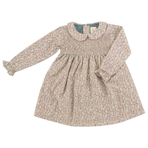 Pigeon Organics Smock Dress w. Peter Pan Collar - Pumice Leaf
