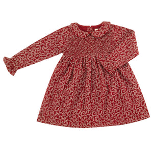 Pigeon Organics Smock Dress w. Peter Pan Collar - Red Leaf