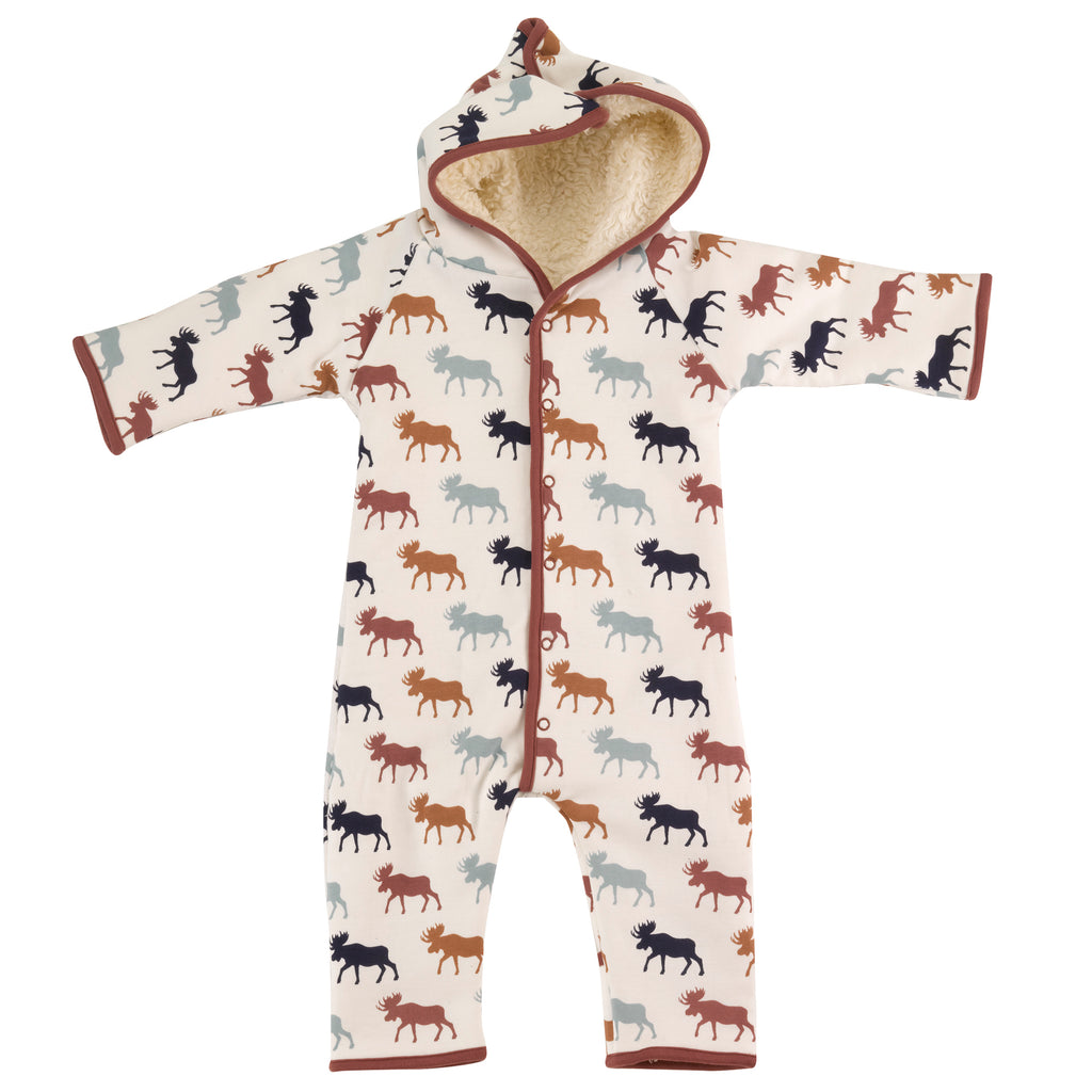 Pigeon Organics Snuggle Suit - Multicolour Moose