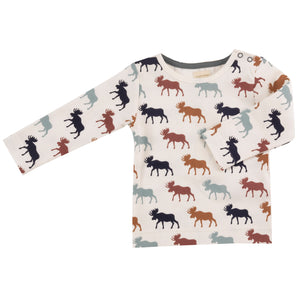 Pigeon Organics Long Sleeve Tee - Multicolour Moose