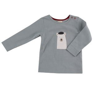 Pigeon Organics Long Sleeve Tee - Polar Bear