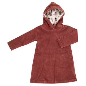 Pigeon Organics Velour Hood Dress - Spice