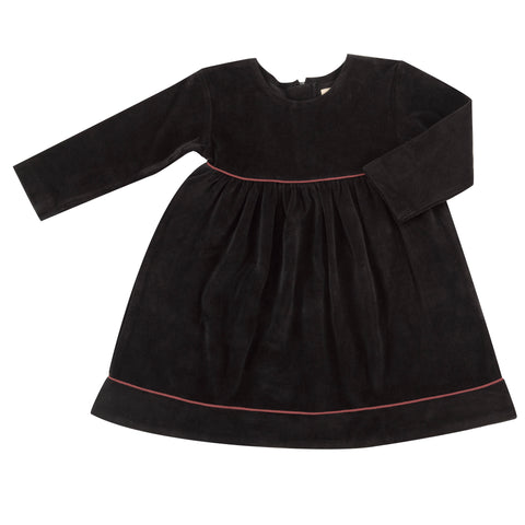 Pigeon Organics Velour Party Dress - Black