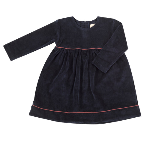 Pigeon Organics Velour Party Dress - Ink Blue