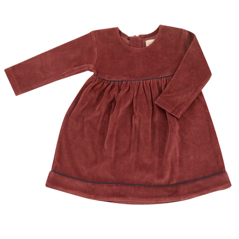 Pigeon Organics Velour Party Dress - Spice