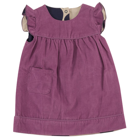 Pigeon Organics Winter Shift Dress (reversible) - Purple