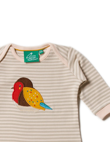 Image of LGR Playsuit - Rainbow Robin Applique