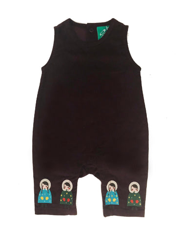 Image of LGR Embroidered Dungarees - Dressed For Snow