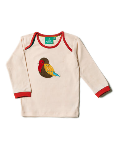 LGR Long Sleeve Tee - Rainbow Robin Applique