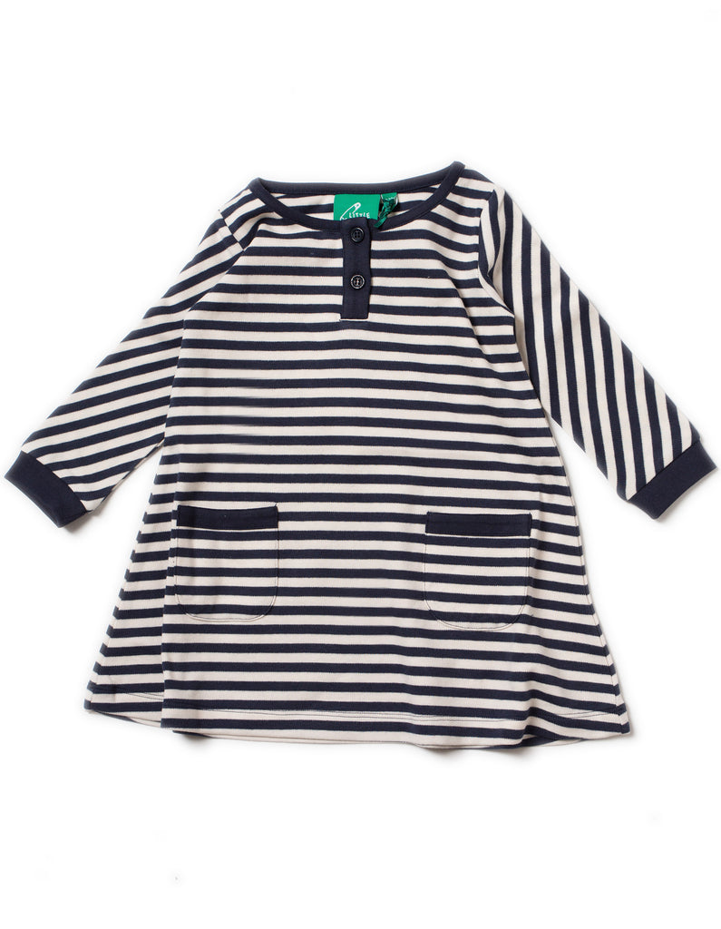 LGR Playaway Dress - Navy Stripes