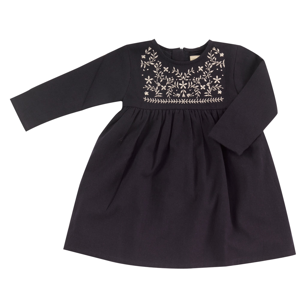 Pigeon Organics Embroidered Dress - Navy