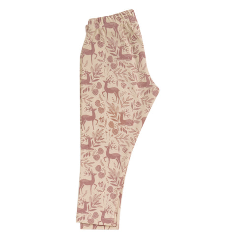 Pigeon Organics Leggings (Aop) - Deer - Rose
