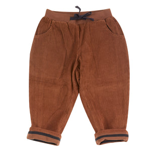 Pigeon Organics Lined Cord Trousers - Brown