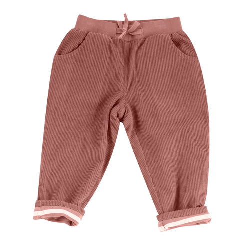 Pigeon Organics Lined Cord Trousers - Rose