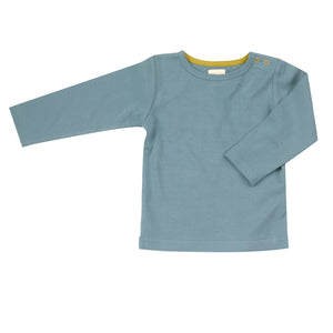 Pigeon Organics Long Sleeve T-Shirt (Plain) - Marlin