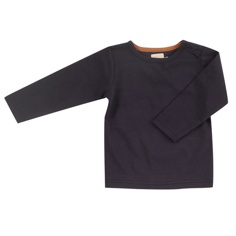 Pigeon Organics Long Sleeve T-Shirt (Plain) - Navy