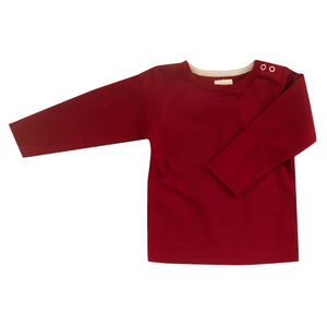 Pigeon Organics Long Sleeve T-Shirt (Plain) - Red