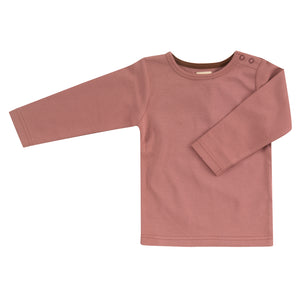 Pigeon Organics  Long Sleeve T-Shirt (Plain) - Rose