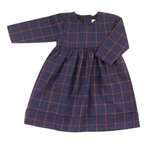 Pigeon Organics Tartan Party Dress - Navy