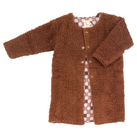 Image of Pigeon Organics Teddy Bear Coat - Brown