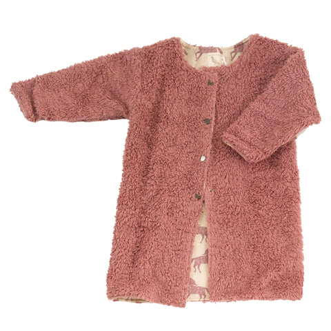 Image of Pigeon Organics Teddy Bear Coat - Rose