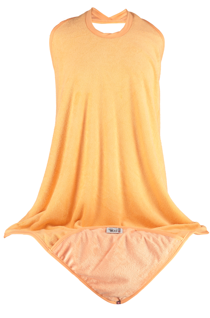 Close Apron Hooded Towel - Peach Fizz