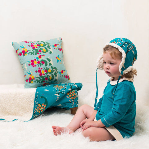 Image of Peacock Tunic Cord Dress - Organic Fairtrade Cotton