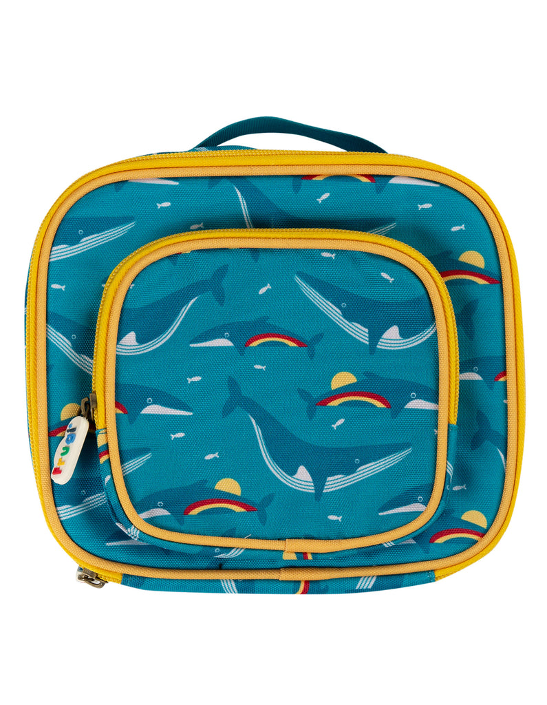 Frugi Pack A Snack Lunch Bag - Rainbow Whales
