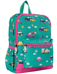 Frugi Adventurers Backpack - Aqua Rainbow Roads