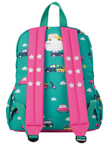Image of Frugi Adventurers Backpack - Aqua Rainbow Roads - Tilly & Jasper