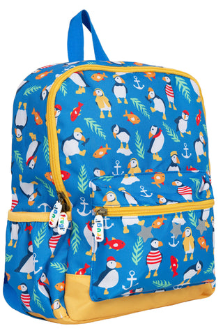 Image of Frugi Adventurers Backpack - Sail Blue Paddling Puffins