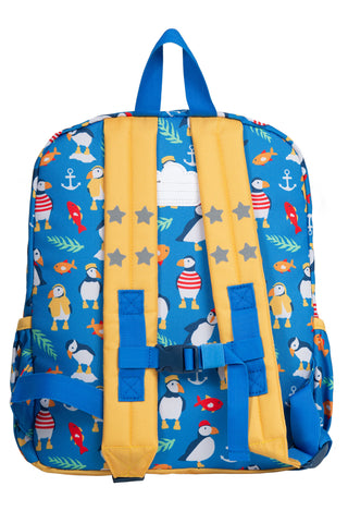 Frugi Adventurers Backpack - Sail Blue Paddling Puffins