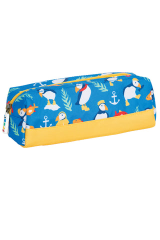 Image of Frugi Crafty Pencil Case - Sail Blue Paddling Puffins
