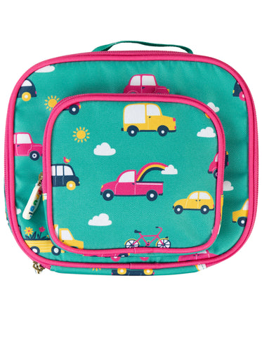 Frugi Pack A Snack Lunch Bag - Aqua Rainbow Roads - Tilly & Jasper