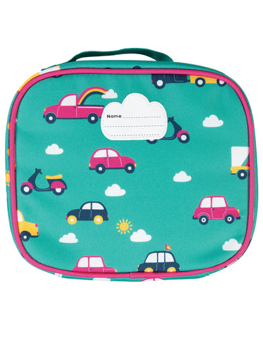 Image of Frugi Pack A Snack Lunch Bag - Aqua Rainbow Roads - Tilly & Jasper