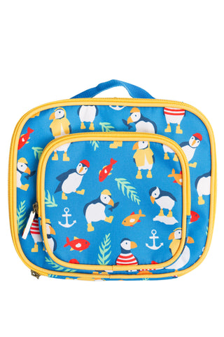 Frugi Pack A Snack Lunch Bag - Sail Blue Paddling Puffins