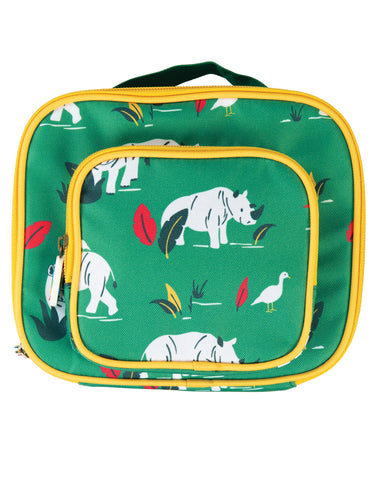 Image of Frugi Pack A Snack Lunch Bag - Rhino Ramble - Tilly & Jasper